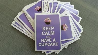 "Sticker / Aufkleber ""Keep calm and have a cupcake"" La Finesse"