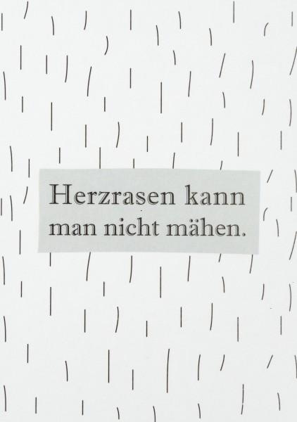 """Postkarte """"Herzrasen kann man nicht mähen"""", räder"""