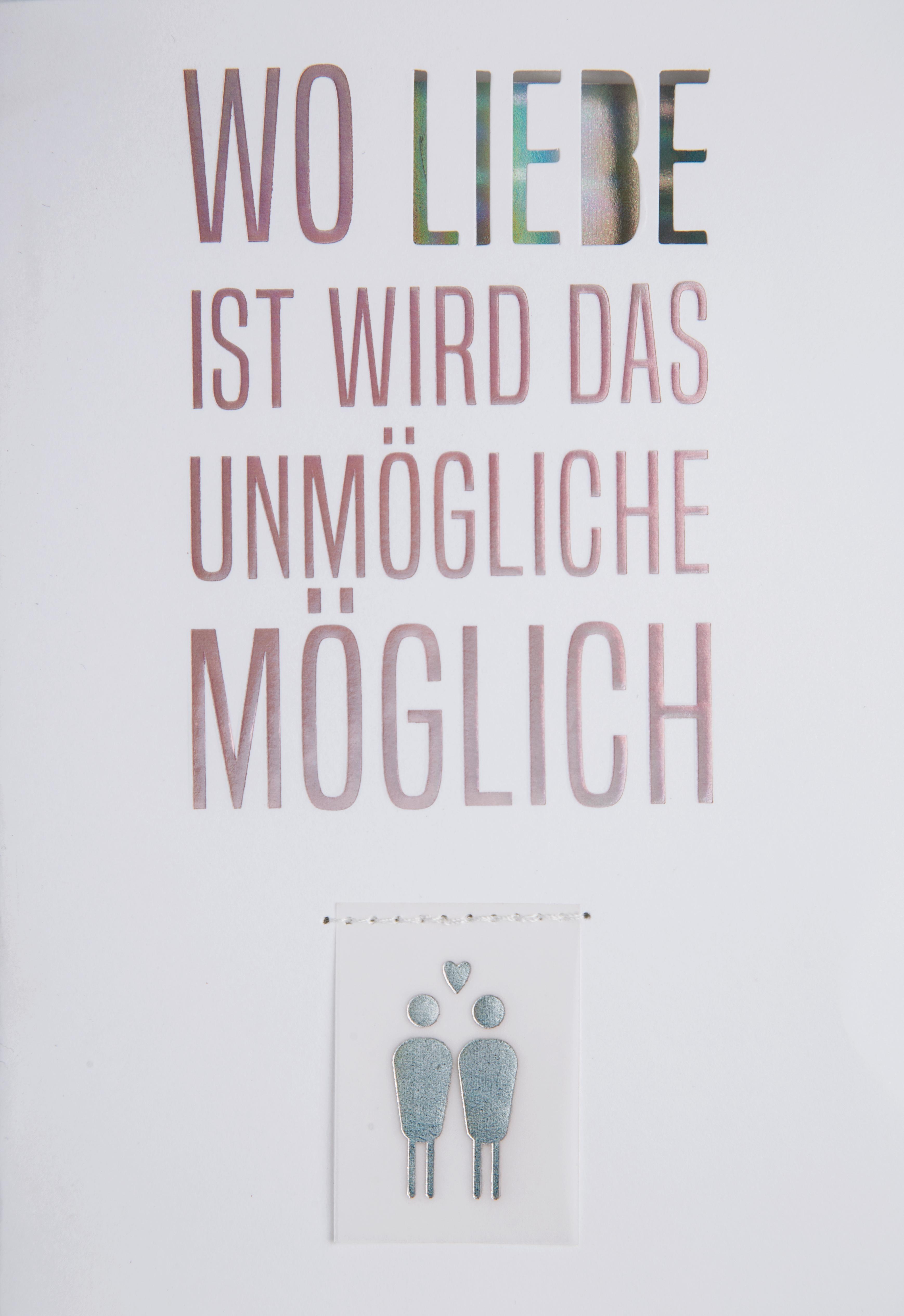 - Glückwunschkarte Hochzeitskarte Regenbogen Wo Liebe ist wird das Unmögliche möglich räder - Onlineshop Tante Emmer