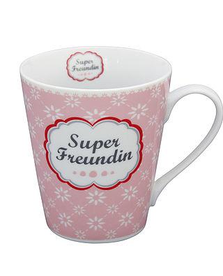 Mug Kaffeebecher Super Freundin