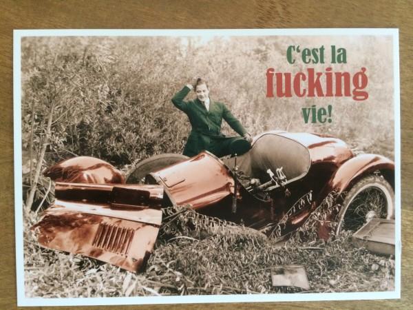 """Postkarte Karte """"C`est la fucking vie!"""" Paloma"""