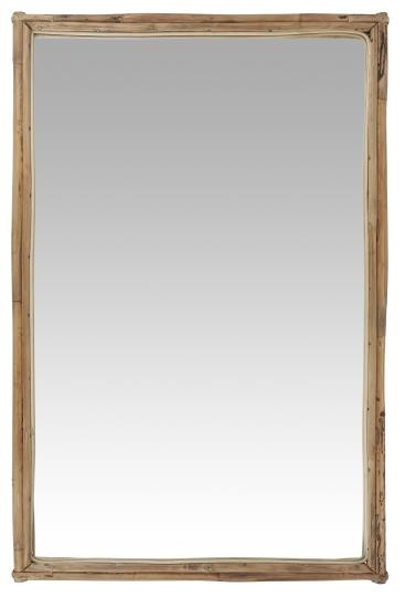 Wandspiegel mit Bambusrahmen Ib Laursen ApS