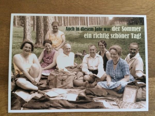 """Postkarte Karte """"Auch in diesem Jahr war der Sommer ein richtig schöner Tag!"""" Paloma"""