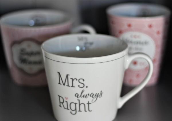 "Happy Cup Tasse ""Mrs always Right"" 400ml, Krasilnikoff"