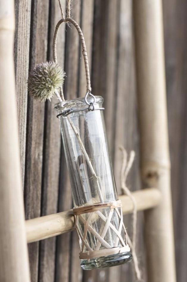 Nützlichdekoration - Blumenvase mit Aufhänger Bambus reagenzglasförming 15cm Ib Laursen - Onlineshop Tante Emmer