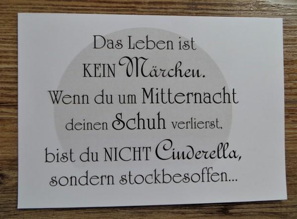 """Karte Postkarte """"Das Leben ist kein Märchen..."""""""