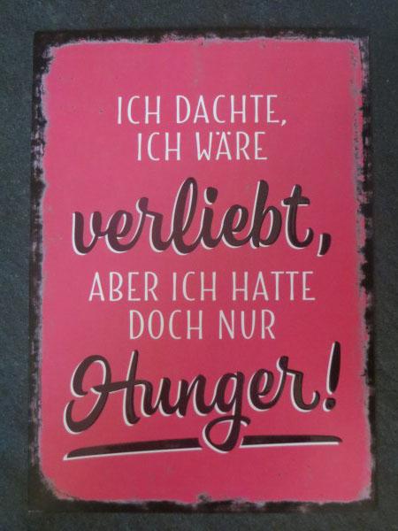 Postkarte Ich dachte ich wäre verliebt aber ich hatte doch nur Hunger