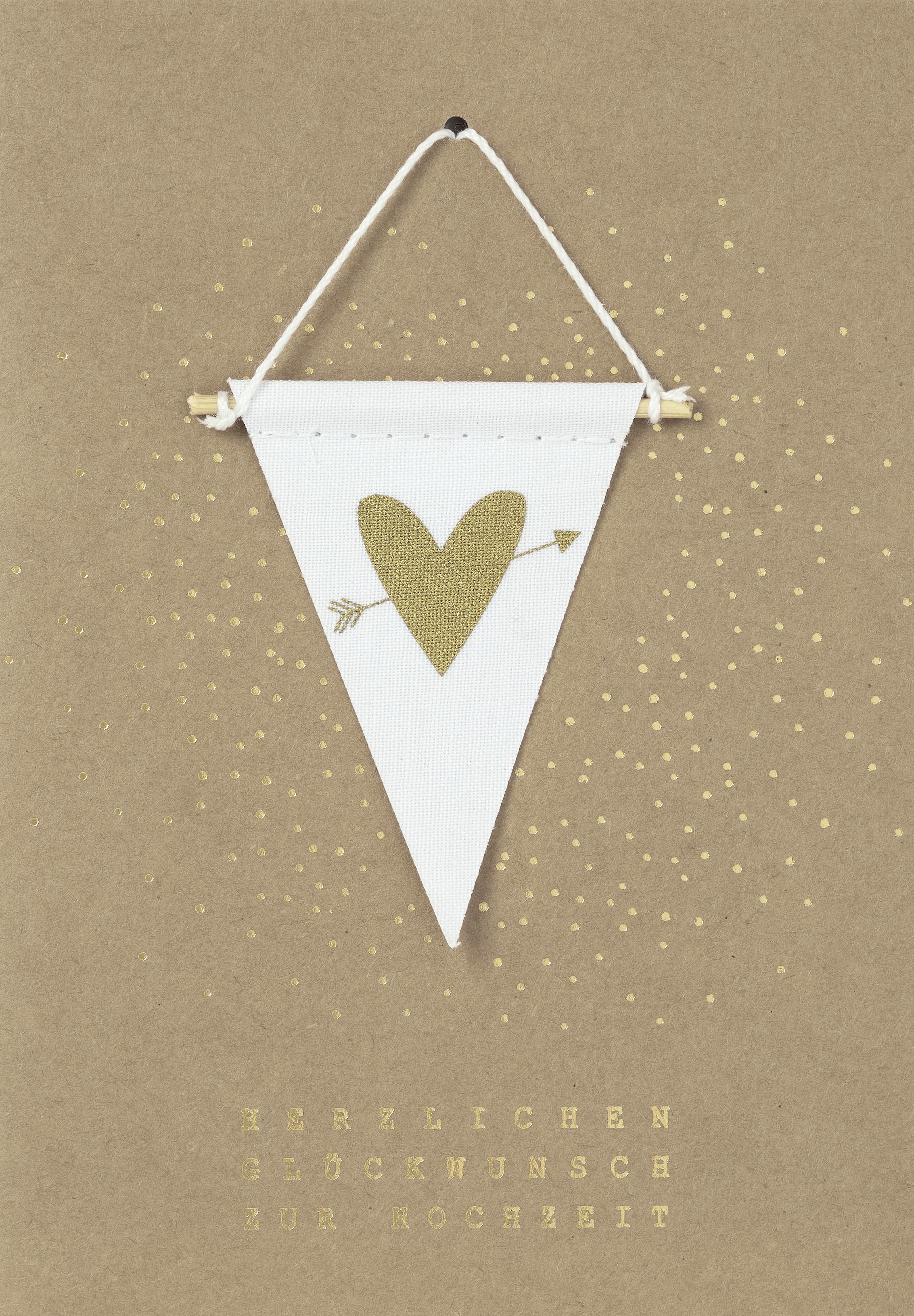 - Glückwunschkarte Hochzeitskarte mit Wimpel Herzlichen Glückwunsch zur Hochzeit räder - Onlineshop Tante Emmer