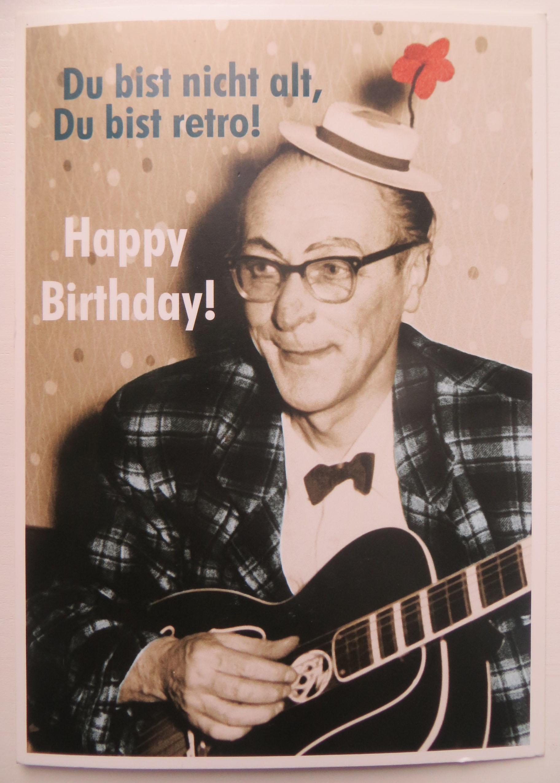 Postkarte Karte Du bist nicht alt Du bist retro Happy Birthday Mann Paloma