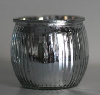 Kerzenhalter Windlicht in Silber