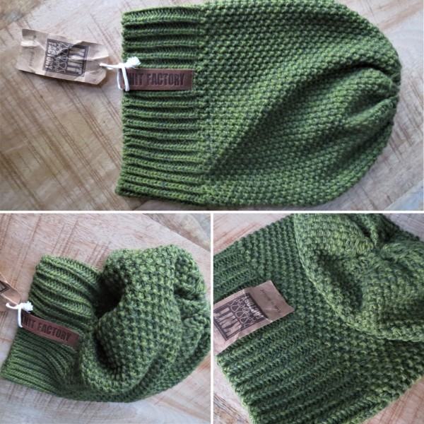 Mütze/ Beanie COCO, Moosgrün/Khaki, Knitfactory