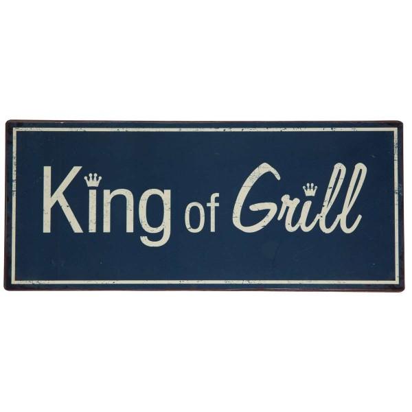 "Metallschild ""King of grill"""