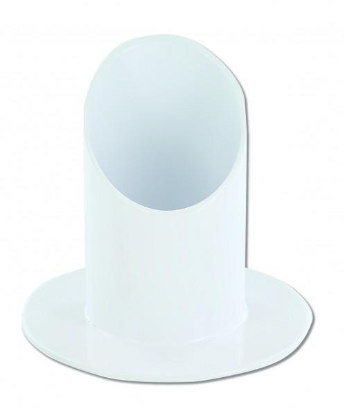Kerzenständer / Metallleuchter weiß für 40 mm Kerzen
