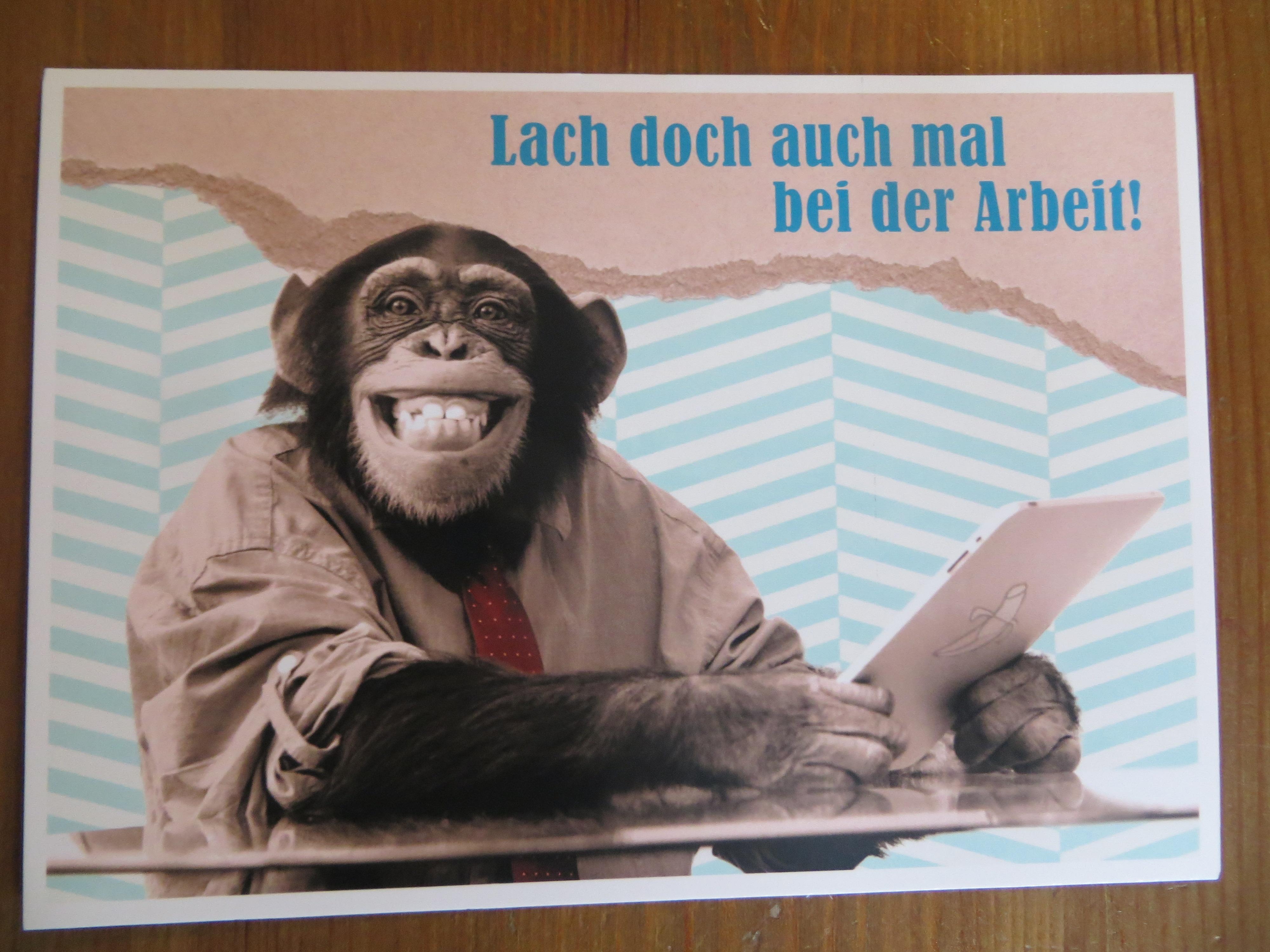 Postkarte Karte Lach doch auch mal... Paloma