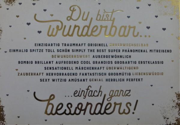 """Postkarte """"Du bist wunderbar..."""" VintageArt"""