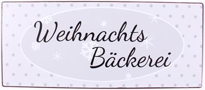 Metall Schild Weihnachs Bäckerei
