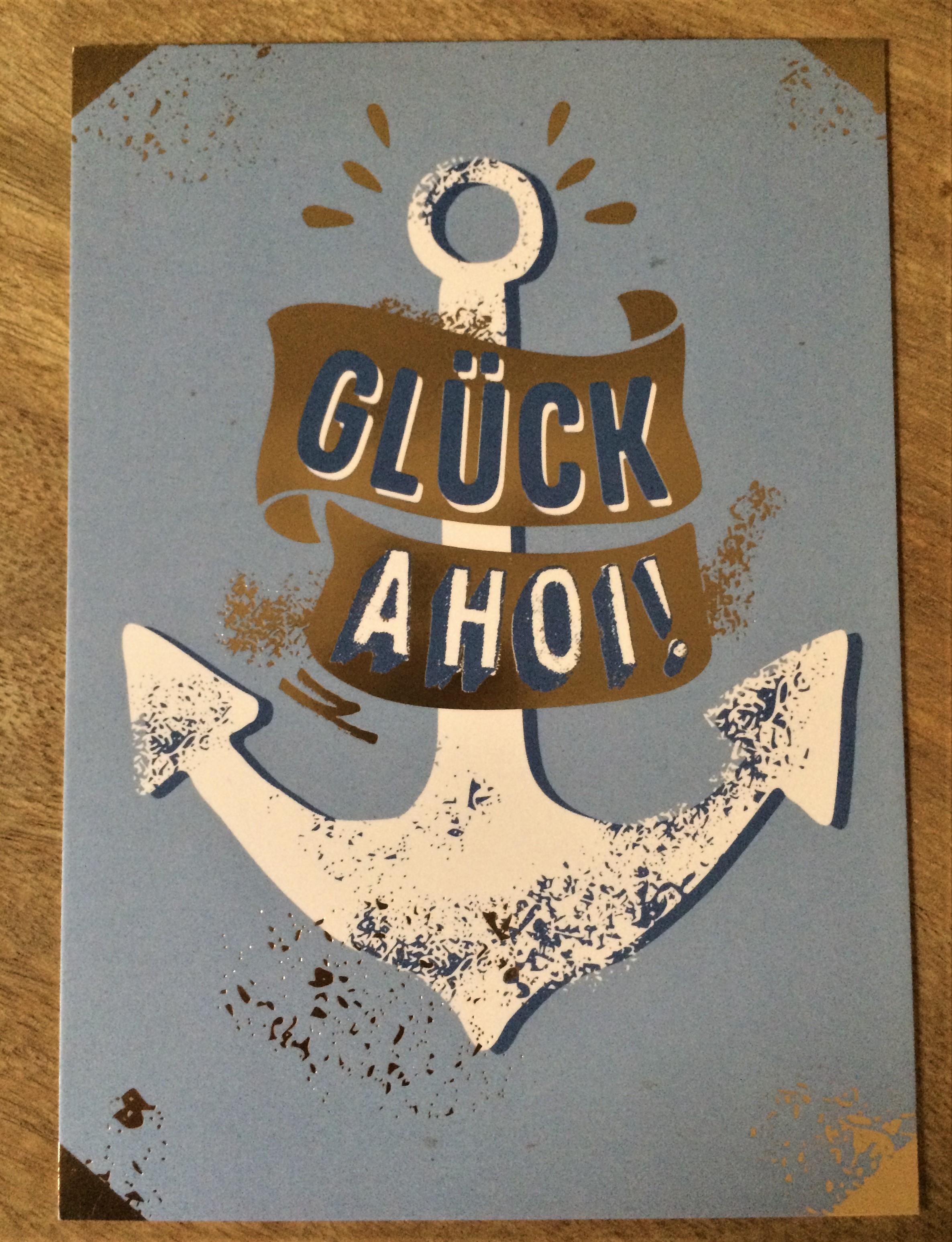 Nützlichgrusskarten - Postkarte Glück Ahoi - Onlineshop Tante Emmer