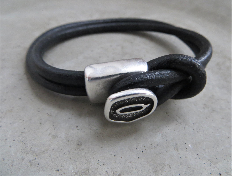 Armbaender für Frauen - QOSS Armband DONNA Schwarz L  - Onlineshop Tante Emmer