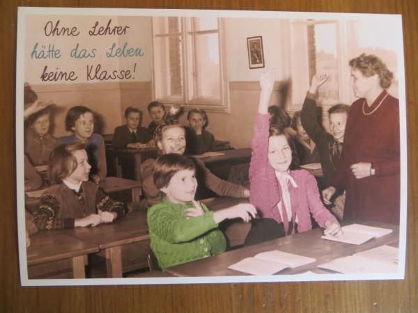 """Postkarte Karte """"Ohne Lehrer hätte..."""" Paloma"""