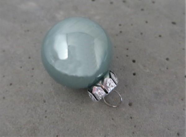 Christbaumschmuck Glaskugel eukalyptus glänzend 25 mm