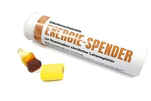 """Süßigkeitenröhrchen """"Energie - Spender"""""""