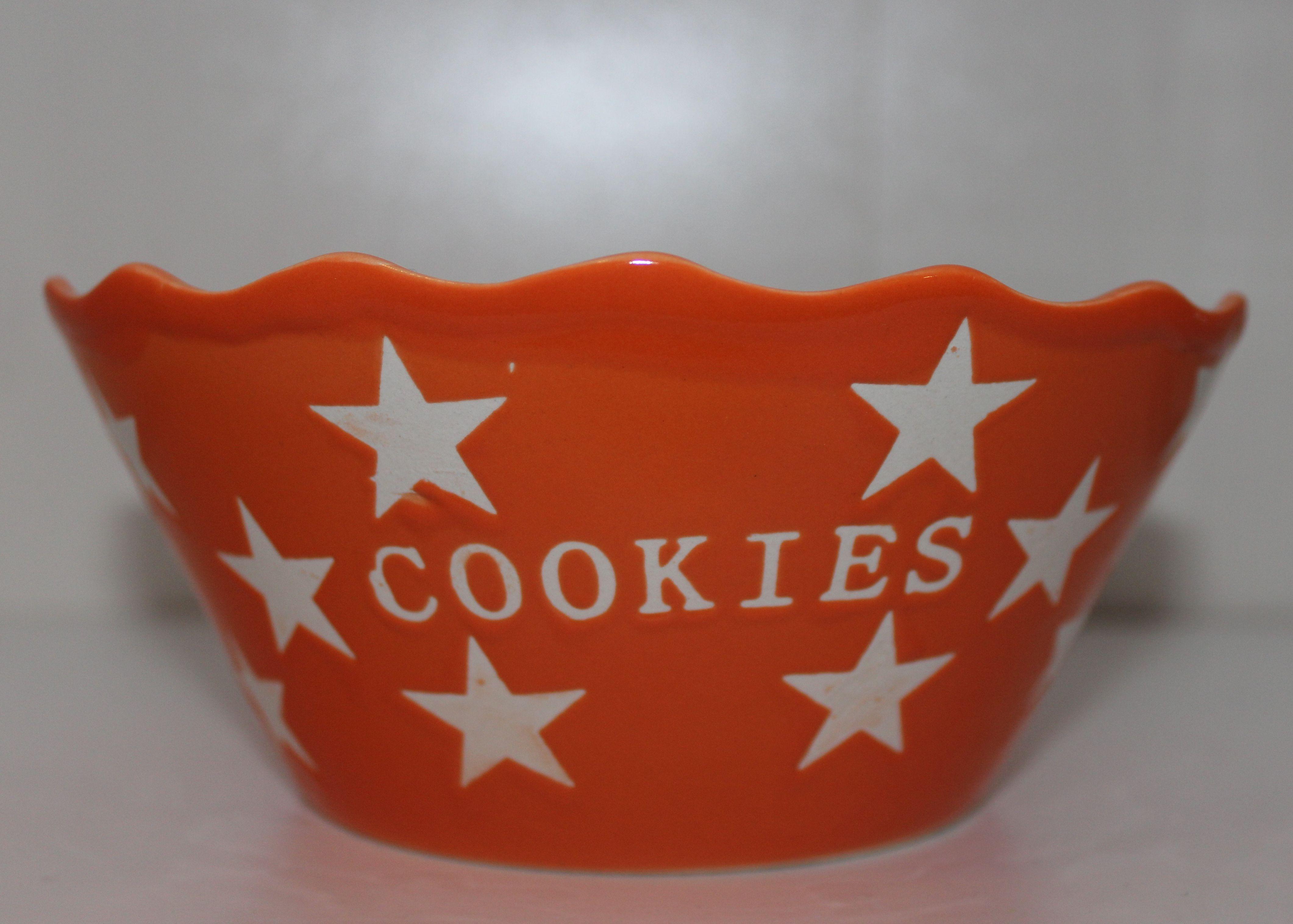 Cookies orangene Schale Schüssel mit Sternen Krasilnikoff