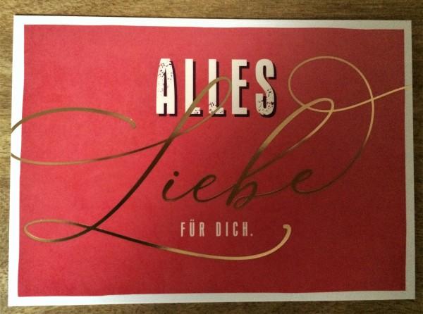 """Postkarte """"Alles Liebe für dich."""""""