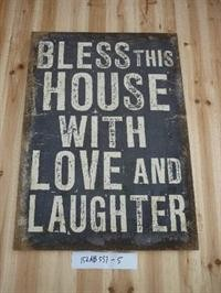 "Canvas-Schild ""Bless this house"" La Finesse"