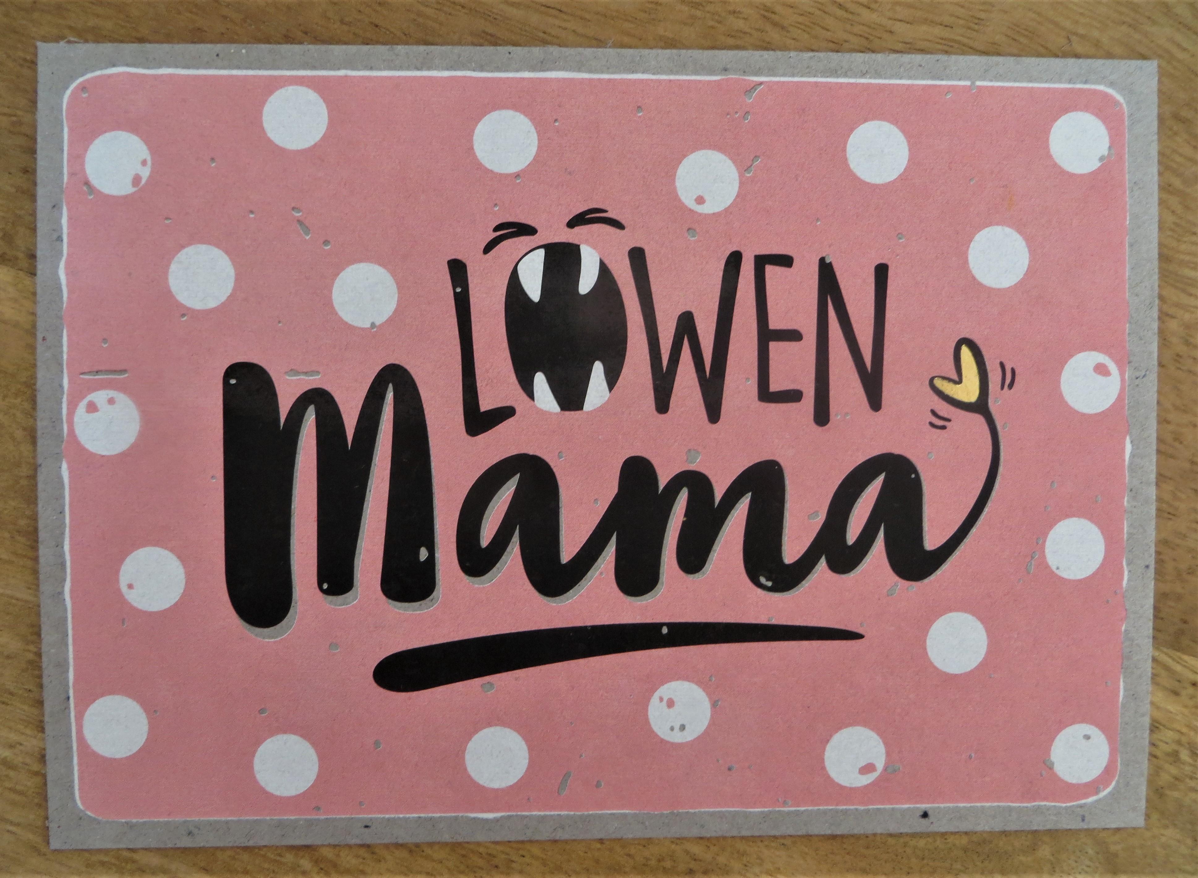 Nützlichgrusskarten - Postkarte LÖWENMama KUNST und BILD - Onlineshop Tante Emmer
