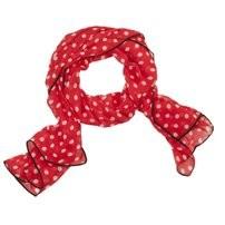 Halstuch / Schal rot mit weißen Punkten von Claire & Eef