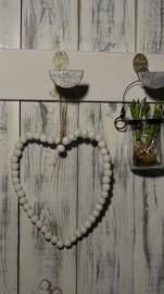 Aufhänger Herz aus Perlen in weiß Appletree