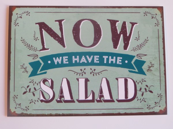 """Postkarte """"Now we have the salad"""""""