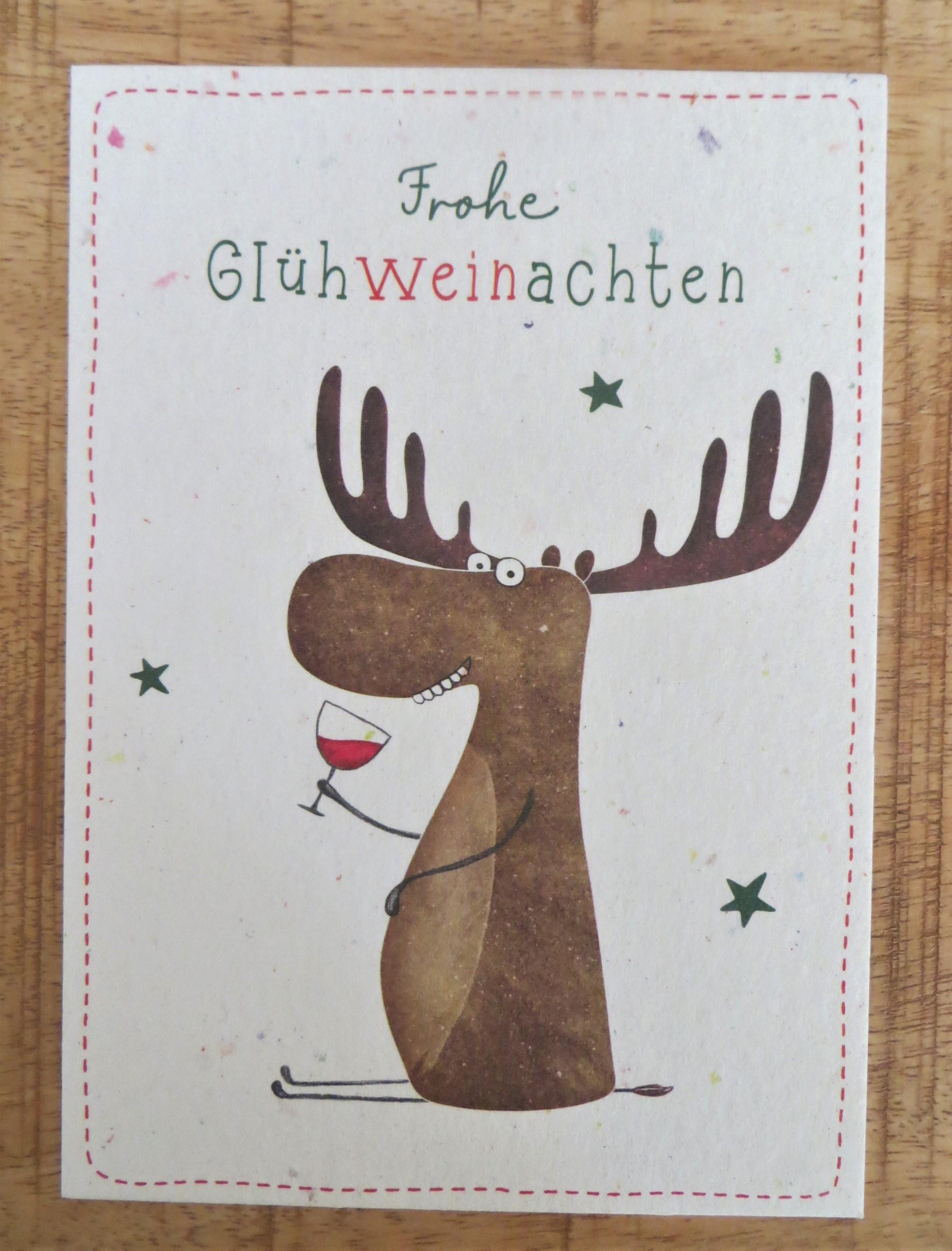 Nützlichgrusskarten - Postkarte Frohe Glühweinachten - Onlineshop Tante Emmer