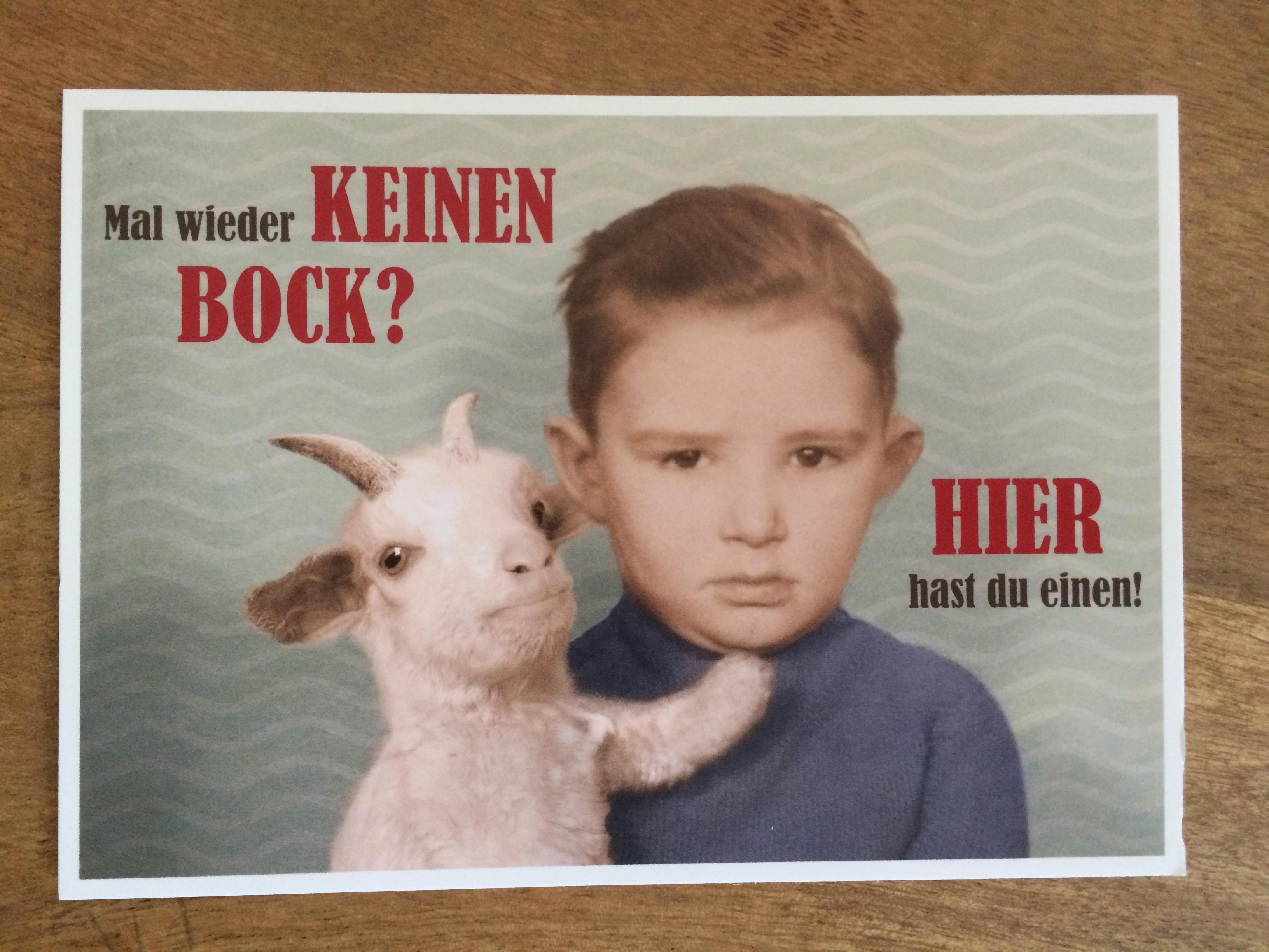 Postkarte Karte Mal wieder keinen Bock Hier hast du einen Paloma