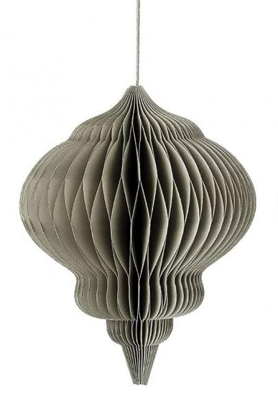 Ornament, 14x18 cm, Grau