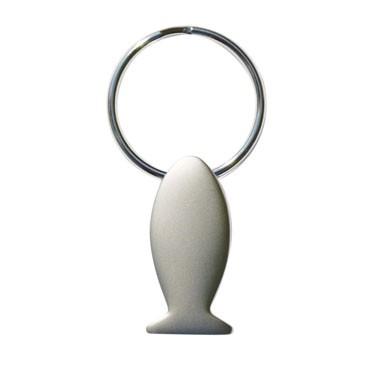 Schlüsselanhänger aus Metall mit dem Motiv eines Fisches