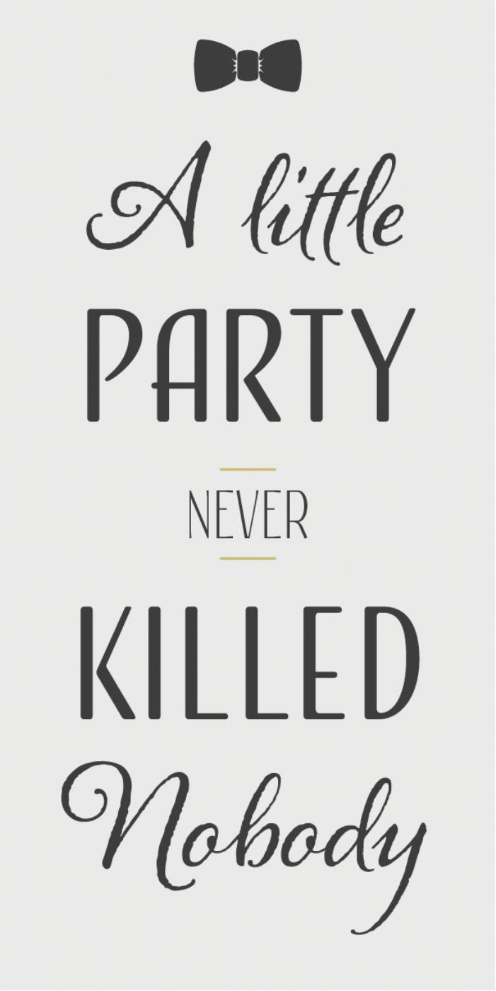 Witzigschilder - Magnet A little PARTY never KILLED nobody - Onlineshop Tante Emmer