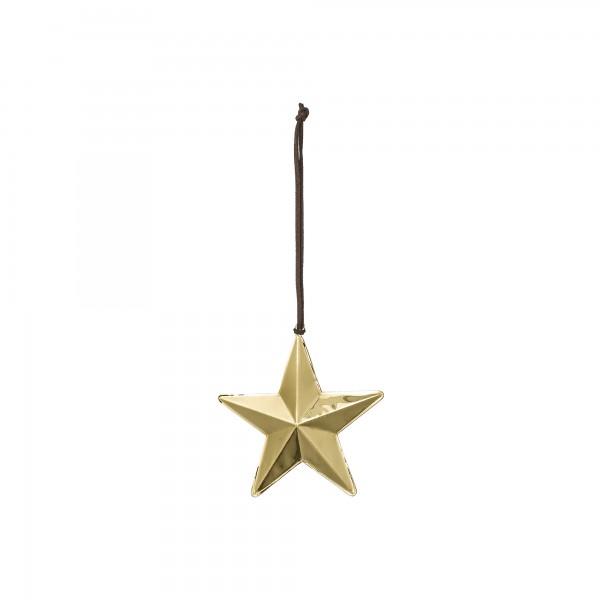 goldener Stern aus Metall zum Aufhängen 6,8 cm