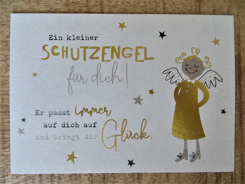 Nützlichgrusskarten - Postkarte Ein kleiner Schutzengel für dich Er passt immer... KUNST und BILD - Onlineshop Tante Emmer
