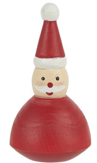 """Holzfigur """"Weihnachtsmann"""", stehend, handbemalt Ib Laursen"""