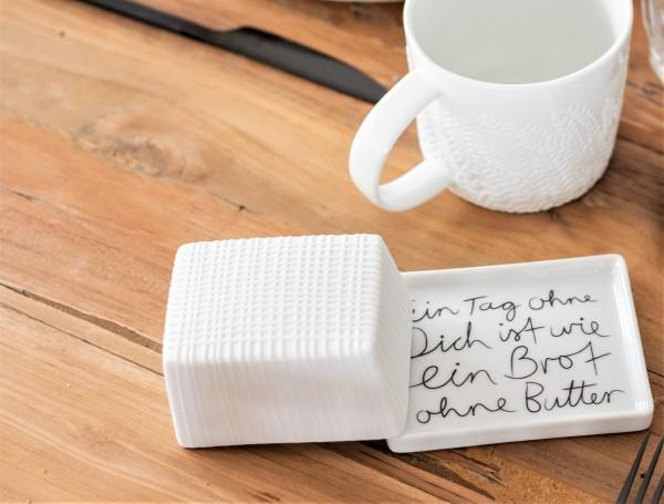 """Mix & Match Butterdose """"Ein Tag ohne dich ist wie ein Brot ohne Butter"""", räder"""