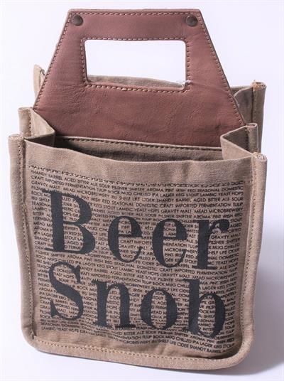 """Biertasche beer bag """"Beer Snob"""" La Finesse"""