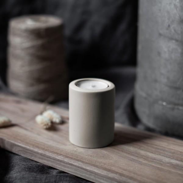 LEKVALL Kerzenhalter/ Teelichthalter Beige L, 8 cm, Storefactory