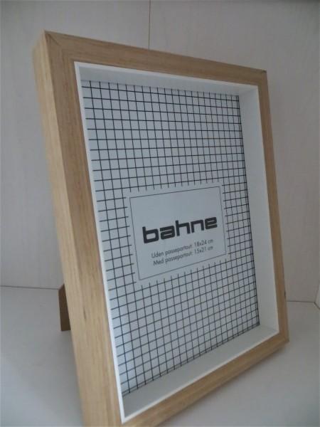 Bilderrahmen, Holz/weiß 18 x 24 cm (15x21cm)