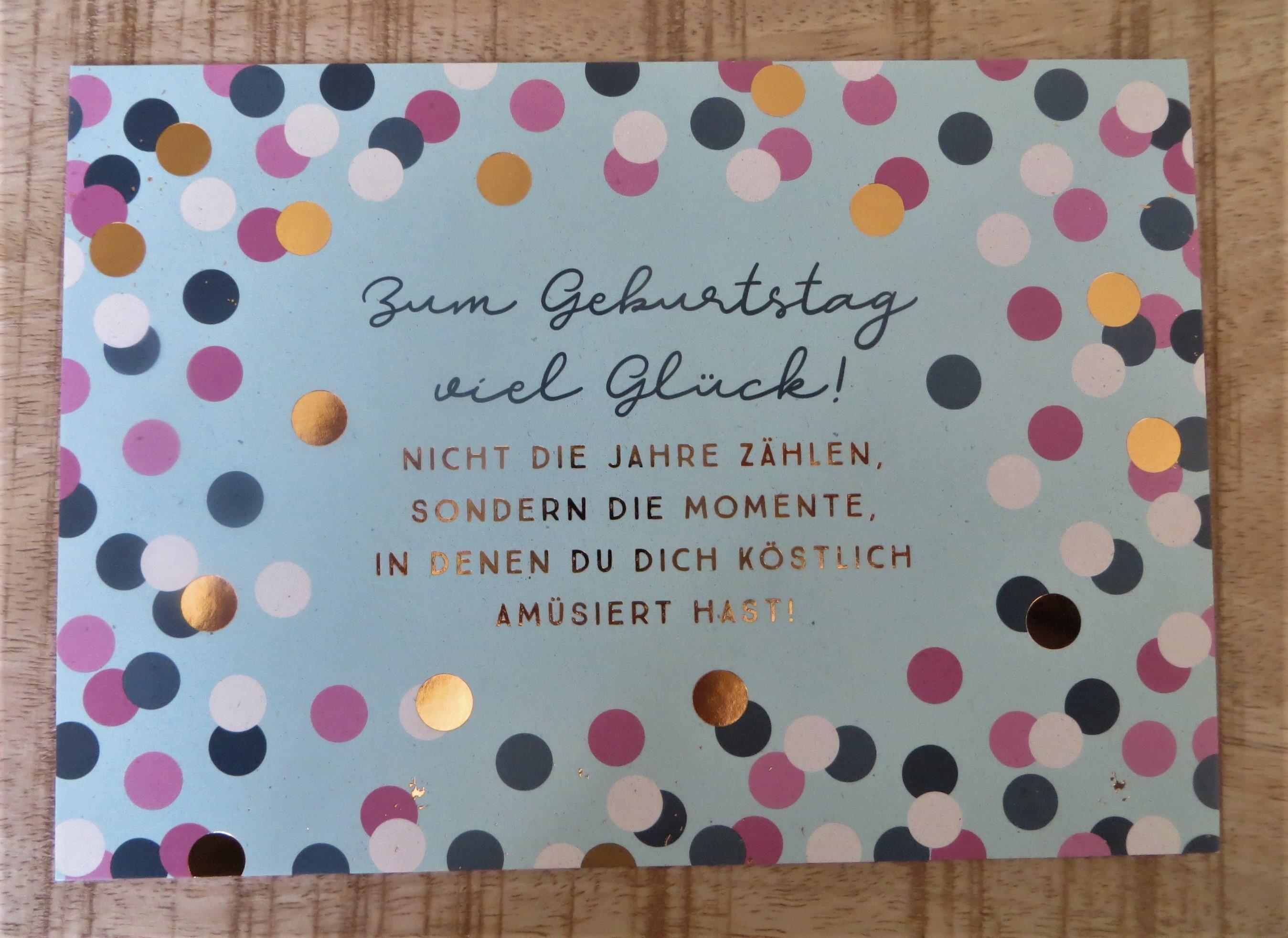 - Postkarte Zum Geburtstag viel Glück VintageArt - Onlineshop Tante Emmer