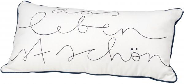 """Living Kissen mit der Aufschrift """"Das Leben ist schön"""" räder"""