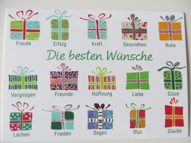 Postkarte Weihnachtskarte Die besten Wünsche Kultura
