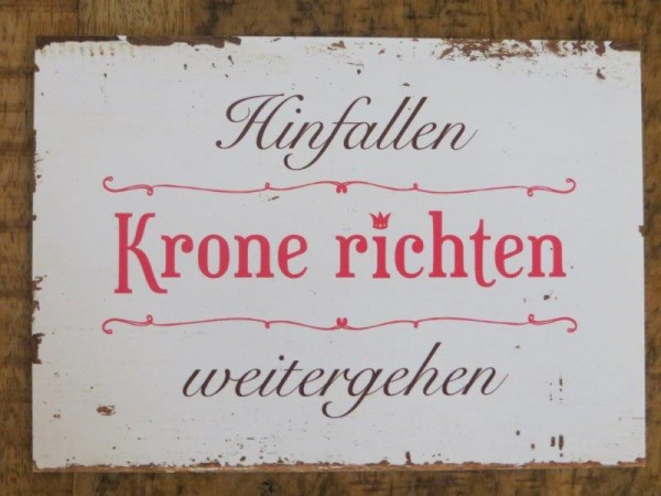 """Postkarte """"Hinfallen Krone richten weitergehen"""""""