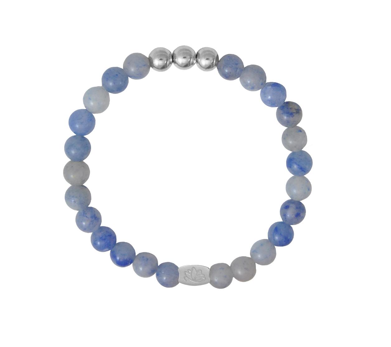 Armbaender für Frauen - MAS jewelz Armband Blauquartz Silber 6mm  - Onlineshop Tante Emmer