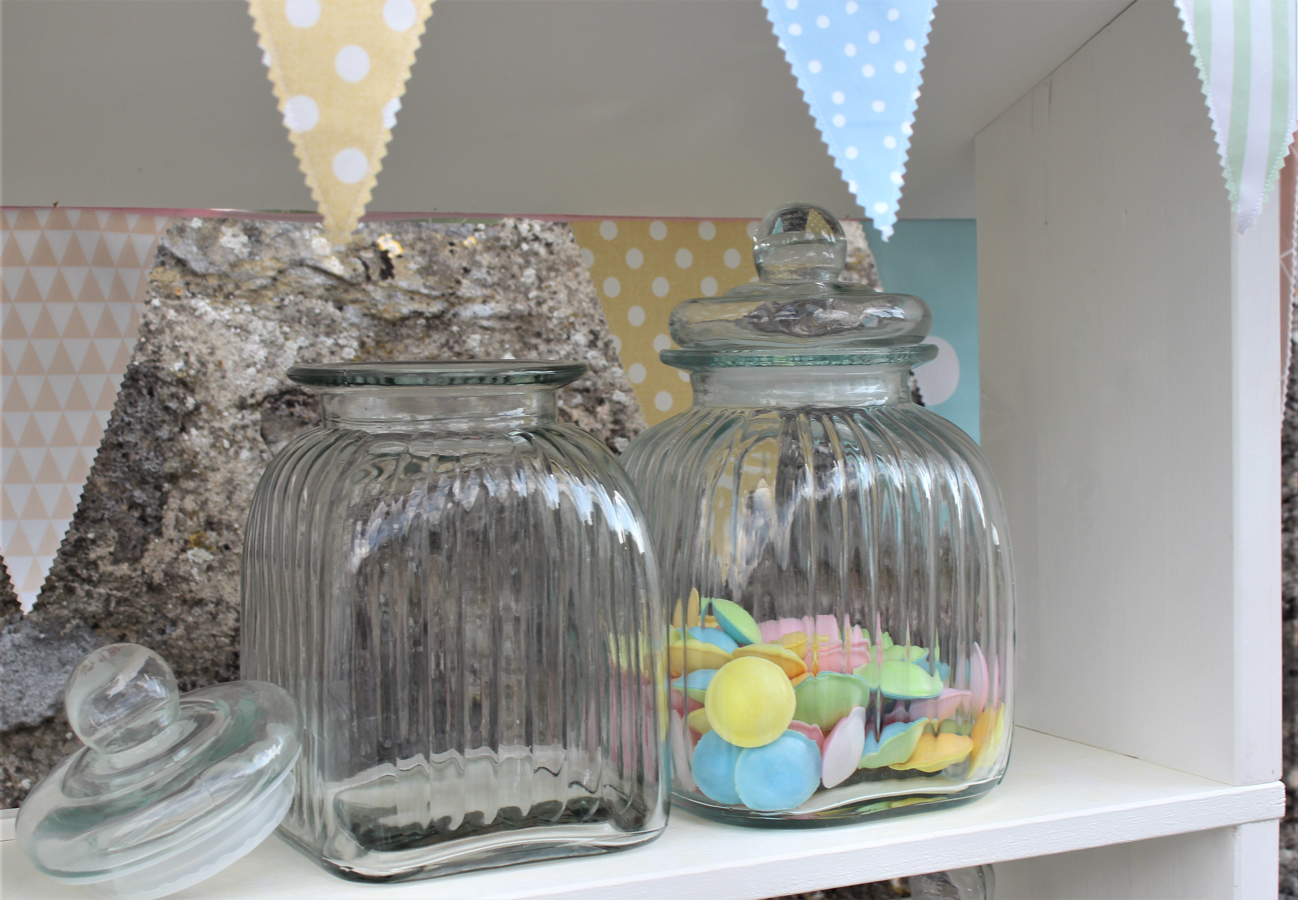 - Ausleihe Glas für Candy Bar eckig16x28cm - Onlineshop Tante Emmer